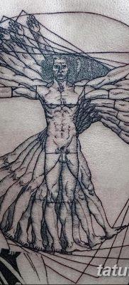фото тату витрувианский человек от 07.12.2017 №030 – Vitruvian man tattoo – tatufoto.com