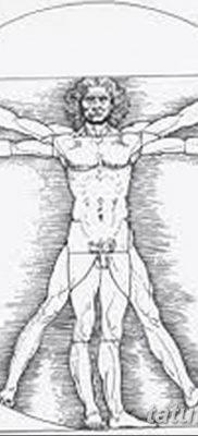 фото тату витрувианский человек от 07.12.2017 №033 – Vitruvian man tattoo – tatufoto.com