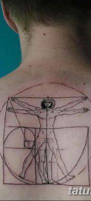 фото тату витрувианский человек от 07.12.2017 №035 – Vitruvian man tattoo – tatufoto.com