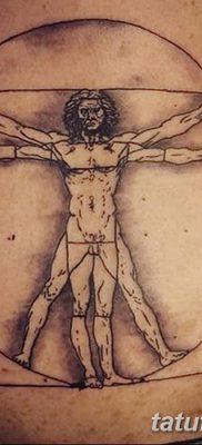 фото тату витрувианский человек от 07.12.2017 №037 – Vitruvian man tattoo – tatufoto.com