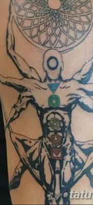 фото тату витрувианский человек от 07.12.2017 №039 – Vitruvian man tattoo – tatufoto.com