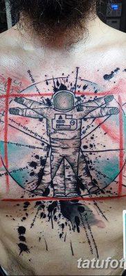 фото тату витрувианский человек от 07.12.2017 №042 – Vitruvian man tattoo – tatufoto.com