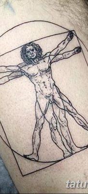 фото тату витрувианский человек от 07.12.2017 №043 – Vitruvian man tattoo – tatufoto.com