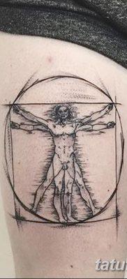 фото тату витрувианский человек от 07.12.2017 №046 – Vitruvian man tattoo – tatufoto.com