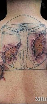фото тату витрувианский человек от 07.12.2017 №047 – Vitruvian man tattoo – tatufoto.com