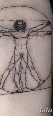 фото тату витрувианский человек от 07.12.2017 №048 – Vitruvian man tattoo – tatufoto.com