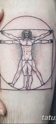 фото тату витрувианский человек от 07.12.2017 №049 – Vitruvian man tattoo – tatufoto.com
