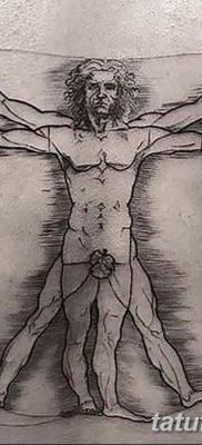фото тату витрувианский человек от 07.12.2017 №050 – Vitruvian man tattoo – tatufoto.com