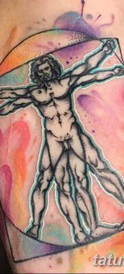 фото тату витрувианский человек от 07.12.2017 №051 – Vitruvian man tattoo – tatufoto.com
