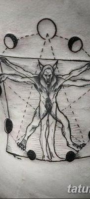 фото тату витрувианский человек от 07.12.2017 №052 – Vitruvian man tattoo – tatufoto.com