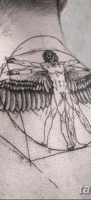 фото тату витрувианский человек от 07.12.2017 №053 – Vitruvian man tattoo – tatufoto.com