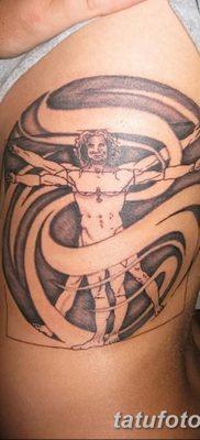 фото тату витрувианский человек от 07.12.2017 №055 – Vitruvian man tattoo – tatufoto.com