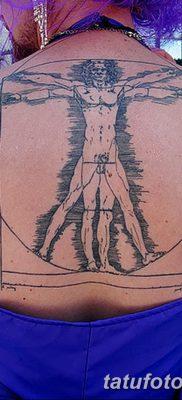 фото тату витрувианский человек от 07.12.2017 №056 – Vitruvian man tattoo – tatufoto.com
