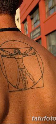 фото тату витрувианский человек от 07.12.2017 №057 – Vitruvian man tattoo – tatufoto.com