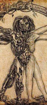 фото тату витрувианский человек от 07.12.2017 №059 – Vitruvian man tattoo – tatufoto.com