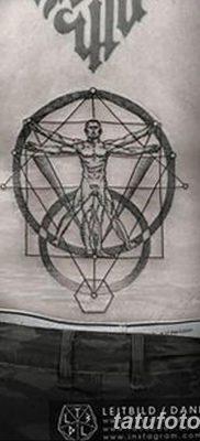 фото тату витрувианский человек от 07.12.2017 №060 – Vitruvian man tattoo – tatufoto.com