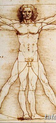 фото тату витрувианский человек от 07.12.2017 №062 – Vitruvian man tattoo – tatufoto.com