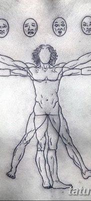 фото тату витрувианский человек от 07.12.2017 №064 – Vitruvian man tattoo – tatufoto.com
