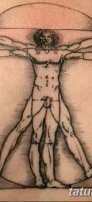 фото тату витрувианский человек от 07.12.2017 №139 – Vitruvian man tattoo – tatufoto.com
