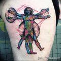 фото тату витрувианский человек от 07.12.2017 №141 - Vitruvian man tattoo - tatufoto.com