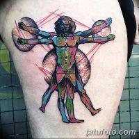 Значение тату «витрувианский человек»