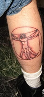 фото тату витрувианский человек от 07.12.2017 №142 – Vitruvian man tattoo – tatufoto.com