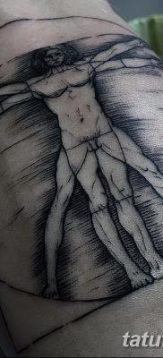 фото тату витрувианский человек от 07.12.2017 №143 – Vitruvian man tattoo – tatufoto.com