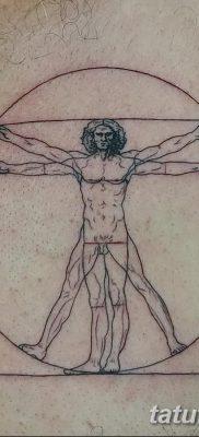 фото тату витрувианский человек от 07.12.2017 №144 – Vitruvian man tattoo – tatufoto.com