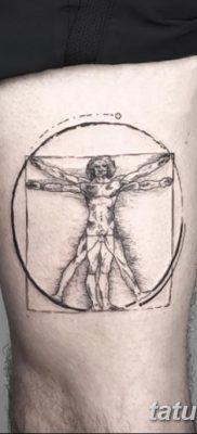 фото тату витрувианский человек от 07.12.2017 №146 – Vitruvian man tattoo – tatufoto.com