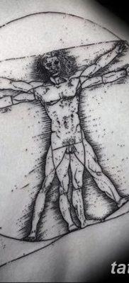 фото тату витрувианский человек от 07.12.2017 №147 – Vitruvian man tattoo – tatufoto.com