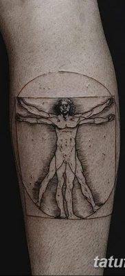 фото тату витрувианский человек от 07.12.2017 №149 – Vitruvian man tattoo – tatufoto.com