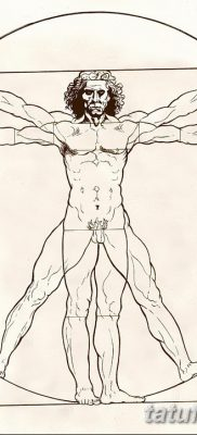 фото тату витрувианский человек от 07.12.2017 №151 – Vitruvian man tattoo – tatufoto.com