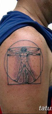 фото тату витрувианский человек от 07.12.2017 №153 – Vitruvian man tattoo – tatufoto.com
