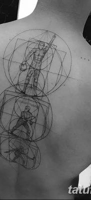 фото тату витрувианский человек от 07.12.2017 №155 – Vitruvian man tattoo – tatufoto.com