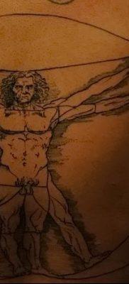 фото тату витрувианский человек от 07.12.2017 №158 – Vitruvian man tattoo – tatufoto.com