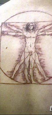 фото тату витрувианский человек от 07.12.2017 №159 – Vitruvian man tattoo – tatufoto.com