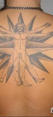 фото тату витрувианский человек от 07.12.2017 №162 – Vitruvian man tattoo – tatufoto.com
