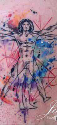 фото тату витрувианский человек от 07.12.2017 №165 – Vitruvian man tattoo – tatufoto.com