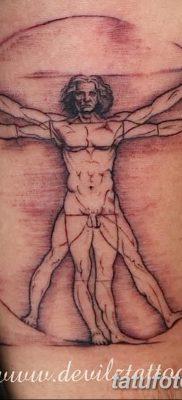 фото тату витрувианский человек от 07.12.2017 №167 – Vitruvian man tattoo – tatufoto.com