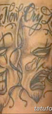 фото тату две маски от 21.12.2017 №002 – tattoo two masks – tatufoto.com