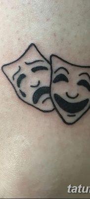 фото тату две маски от 21.12.2017 №010 – tattoo two masks – tatufoto.com