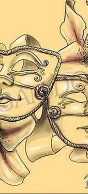 фото тату две маски от 21.12.2017 №011 – tattoo two masks – tatufoto.com