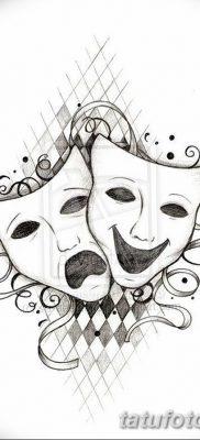 фото тату две маски от 21.12.2017 №014 – tattoo two masks – tatufoto.com
