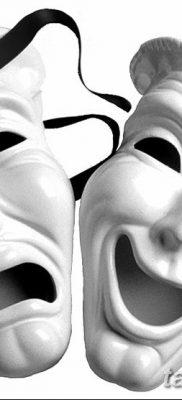 фото тату две маски от 21.12.2017 №026 – tattoo two masks – tatufoto.com