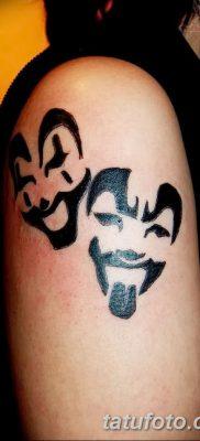 фото тату две маски от 21.12.2017 №030 – tattoo two masks – tatufoto.com