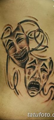 фото тату две маски от 21.12.2017 №032 – tattoo two masks – tatufoto.com
