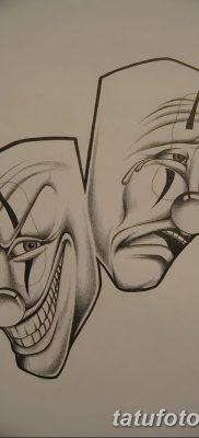 фото тату две маски от 21.12.2017 №034 – tattoo two masks – tatufoto.com