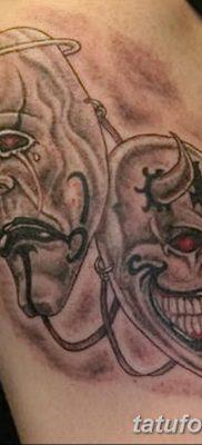 фото тату две маски от 21.12.2017 №038 – tattoo two masks – tatufoto.com