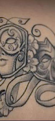 фото тату две маски от 21.12.2017 №045 – tattoo two masks – tatufoto.com 23526234234