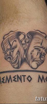 фото тату две маски от 21.12.2017 №052 – tattoo two masks – tatufoto.com